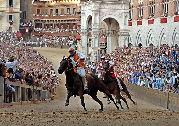 The Palio di Siena horse race