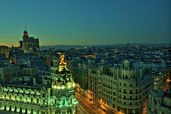 The rooftop terrace of the Círculo de Bellas Artes: Offering Madrid's Best Panoramic Views.